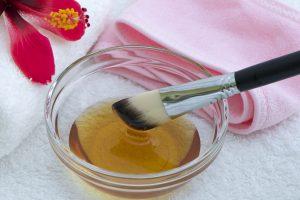 Honigmaske gegen fettige Haut