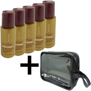 5x Joico K-Pak Color Therapy Restorative Styling Oil + Tasche - Haar Pflege Öl