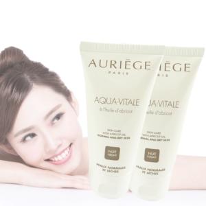 Auriege Paris Aqua Vitale Nacht Creme normale trockene Haut - MULTIPACK 2x50ml