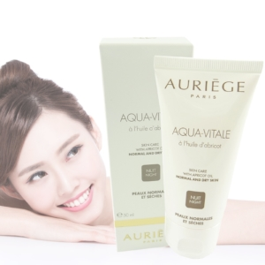 Auriege Paris Aqua Vitale Nacht Creme 50ml - trockene normale Haut Aprikose