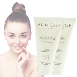 Auriege Paris Aqua Vitale Tages Creme trockene normale Haut - MULTIPACK 2x50ml