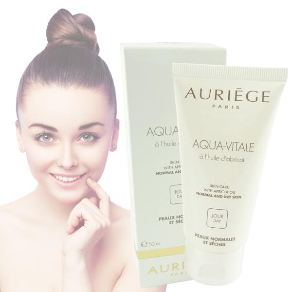 Auriege Paris Aqua Vitale Tages Creme 50ml - trockene normale Haut Aprikosen Öl