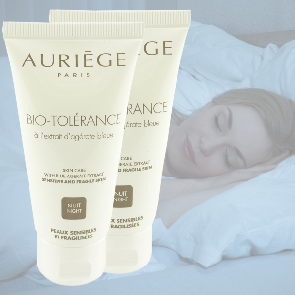 Auriege Paris Bio Tolerance Blue Agerate - Nacht Pflege Creme - MULTIPACK 2x50ml