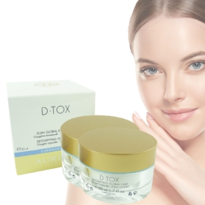 Auriege Paris D.Tox Entgiftende Pflege Anti Aging Haut Creme MULTIPACK 2x50ml