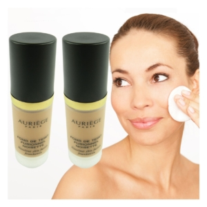 Auriege Paris Fond de Teint Fusionnel SPF15 Noisette Make up - MULTIPACK 2x30ml