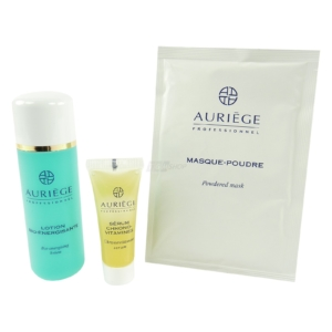 Auriege Paris Beauty Set - Puder Maske + Serum Chrono Vitamins + Lotion - 3tlg.