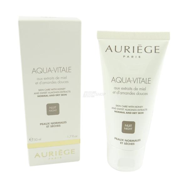 Auriege Paris - Aqua Vitale Nacht Creme normale trockene Haut Pflege 50ml