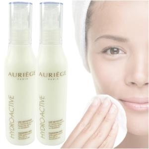 Auriege Paris Hydro Active Reinigung Milch Apfel Extrakt für trockene Haut - 2x 200ml