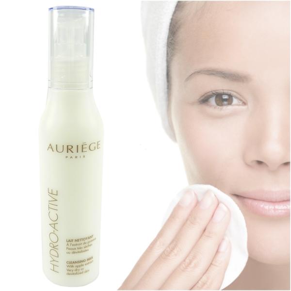 Auriege Paris Hydro Active Reinigung Milch Apfel Extrakt für trockene Haut - 3x 200ml