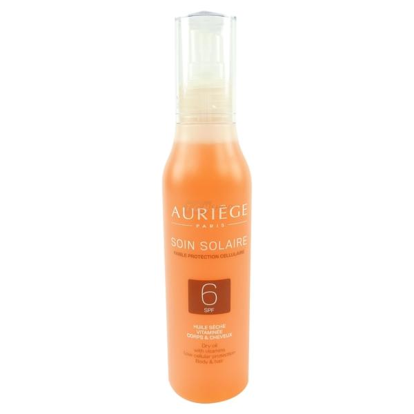 Auriege Paris Soin Solaire Sonnen Schutz SPF6 Körper + Haar Trocken Öl - 200ml