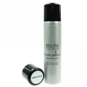 BIGUINE Glitzer Silber Körper Haar Spray - 75ml Pflege Kosmetik Make Up