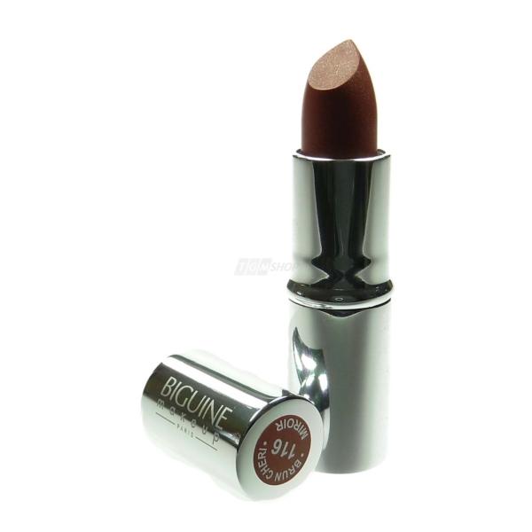BIGUINE MAKE UP PARIS ROUGE A LEVRES MIROIR - Lippen Stift Farbe Kosmetik - 3,5g - Brun Cheri