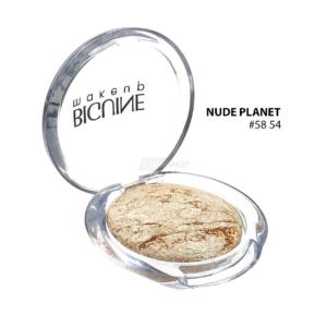 BIGUINE MAKE UP PARIS STAR LIGHT EYES SHADOW - Lidschatten Augen Kosmetik - 2g - 5854 Nude Planet