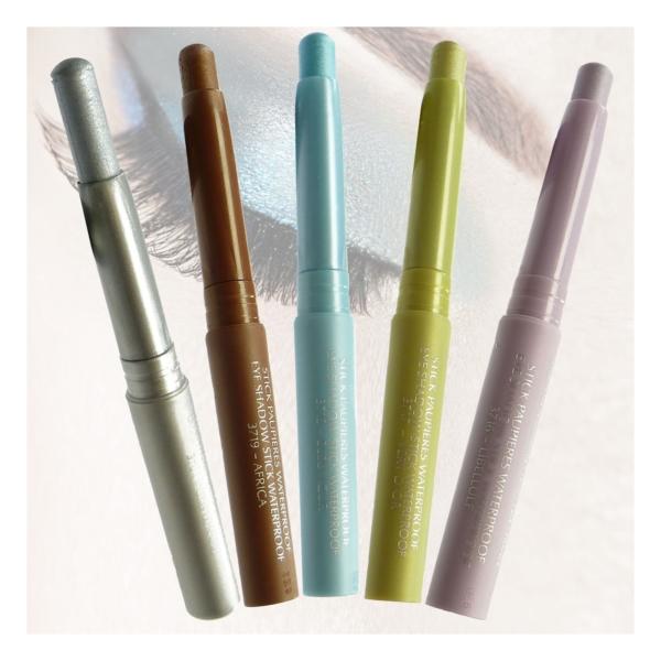 BIGUINE MAKE UP PARIS STICK PAUPIERES WATERPROOF - Lidschatten Augen Farbe 2,5g - 3725 Vert Emoi