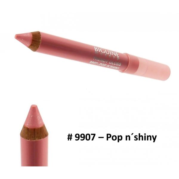 Biguine Make Up Paris Trendy Gloss - Lip Color Lippen Stift Farbe - 2,32g - 9907 Pop n´shiny