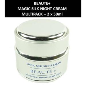 Beaute+ - Magic Silk Night Cream - Nacht Creme - Kosmetik Haut Pflege 2 x 50ml