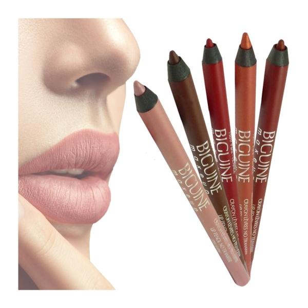 Biguine Paris Lipliner Konturen Stift No Transfer - Lippen Stift Make Up - 1,2g - 5123 Choco