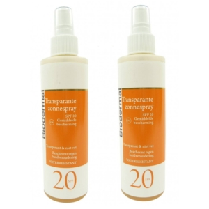 Biodermal Sun Care - SPF 20 Sonnen Spray Transparent Schutz wasserfest 2x200ml