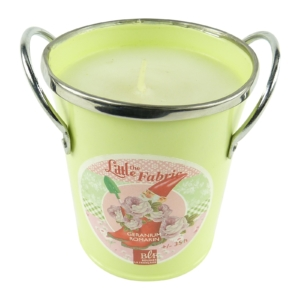 Bougies La Francaise The Little Fabric Duft Kerze im Deko Geranium Topf 292g