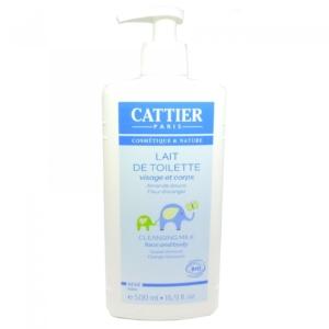 Cattier Paris Lait de Toilette - Baby Reinigung Milch Körper Haut Pflege 500ml