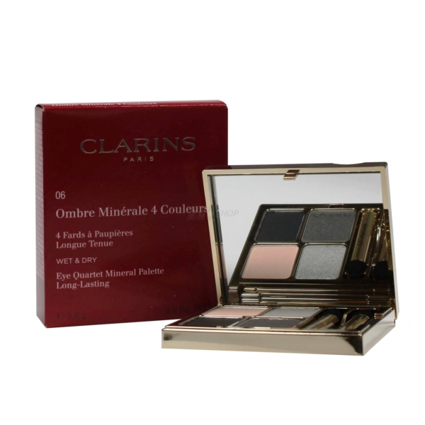Clarins Ombre Minerale 4 Couleurs Wet + Dry Lidschatten Augen 5.8g Farbauswahl - 06 graphites
