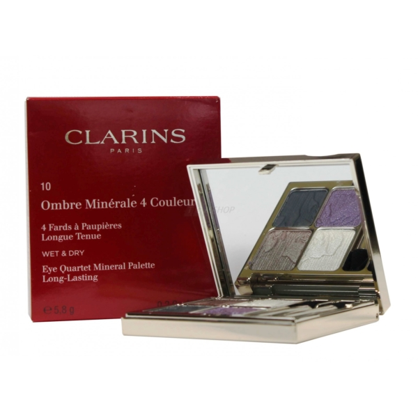 Clarins Ombre Minerale 4 Couleurs Wet + Dry Lidschatten Augen 5.8g Farbauswahl - 10 iris blossom