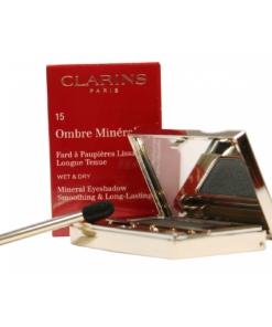 Clarins Ombre Minérale Wet+Dry Lidschatten Eyeshadow Augen Make up Kosmetik 2g - 15 Black Sparkle