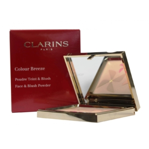 Clarins Paris Colour Breeze Face and Blush Powder - Kompakt Puder Make Up - 9g