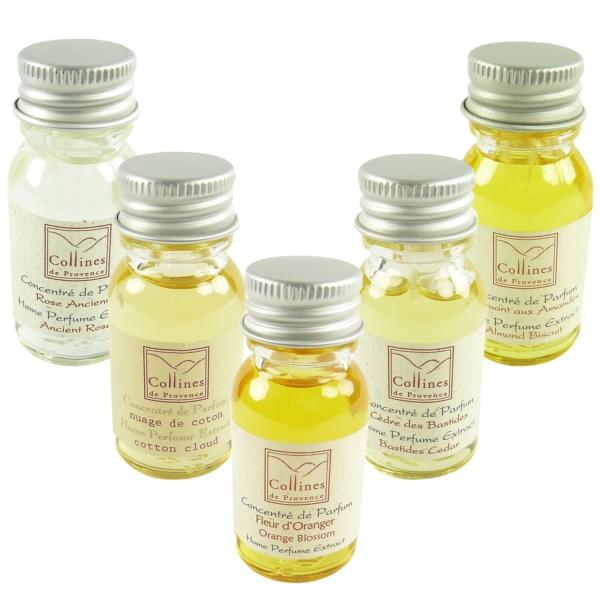 Collines de Provence Home Perfume Extract - Raum Erfrischer Duft Konzentrat 15ml - silk feather - plume de soie