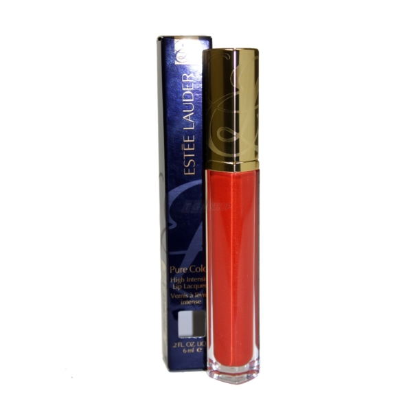 Estee Lauder - Pure Color High Intensity Lip Lacquer Lippen Farbe - Make up 6ml - 06 Melting Sun Lacquer