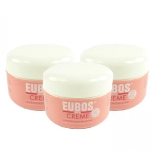 Eubos Med Creme 3x 100ml - Körper Vitamin Pflege trockene Haut Body Skin Cream