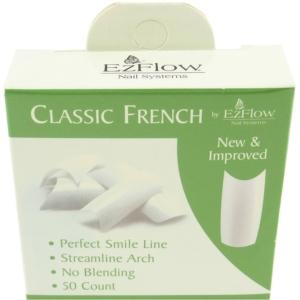 50 Stück EzFlow künstliche French Finger Nägel Tips in Verschiedenen Sorten - # 01