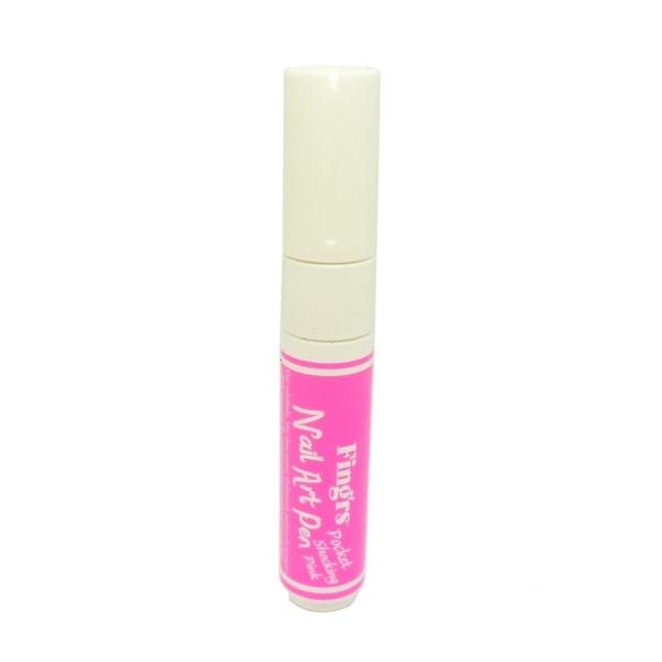 Fing'rs Pocket Nail Art Pen Maniküre Finger Nägel Design Acryl Stift 1 Stück - Shocking Pink
