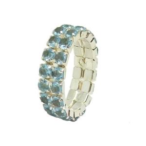 Fing'rs Toe Ring #2343 v. Farben Fuß Schmuck Zehen Strass Ring Größe variabel - Silberblau