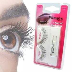 Fing'rs Wimp'rs Eyelashes #70000 Augen Make up falsche Wimpern Echthaar - 1 Paar