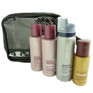JOICO Reise Pflege Set - Coloriertes Haar Shampoo Conditioner Schaum Öl - 5tlg