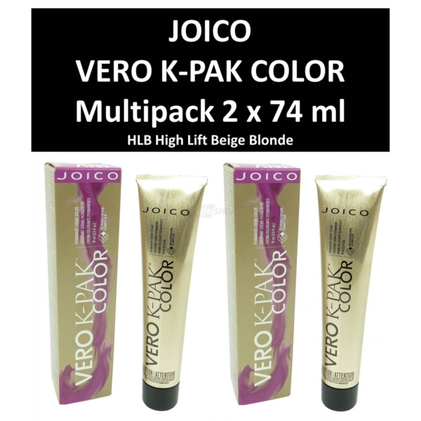 Joico Vero K-PAK HLB High Lift Beige Blonde Permanente Creme Haar Farbe - 2x74ml