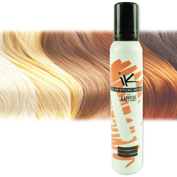 Kappers KIS Color Styling Mousse - Farb Auswahl - Haar Pflege Schaum Tönung - 1x200ml Hellbraun/Light Brown