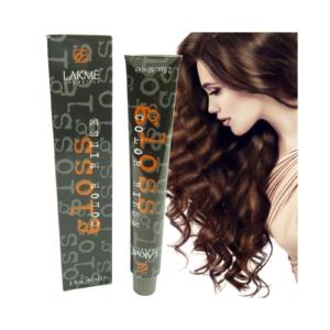 Lakme Gloss Color Rinse Creme Haar Farbe Coloration Tönung 60ml Nuancen Auswahl - 4/50 Medium Auburn Brown/Mittel Kastanien Braun