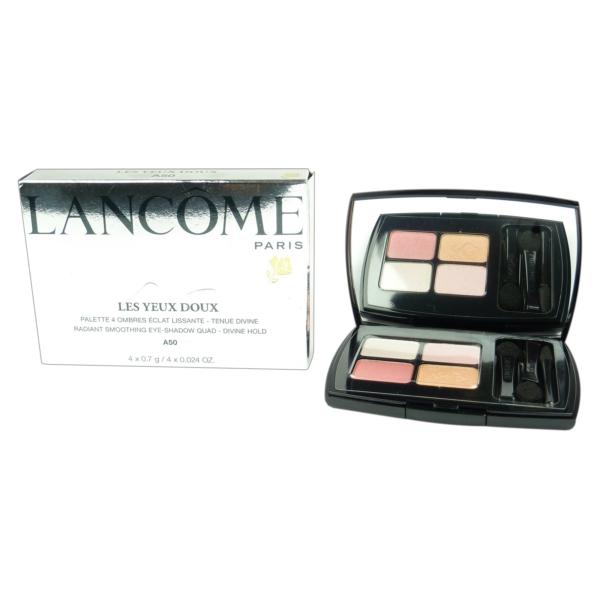 Lancome Les Yeux Doux Lidschatten Palette 4 Farben - Augen Make up - 4x0.7g - # A50 Rose Romance