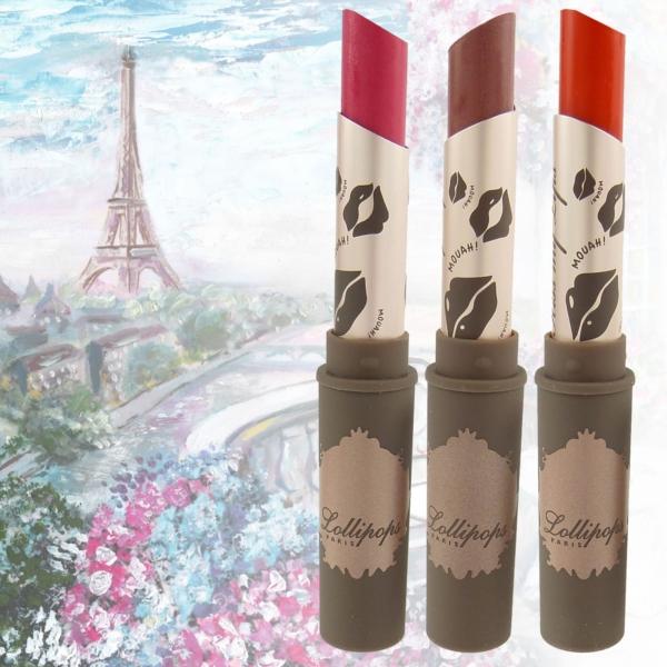 Lollipops Paris Kiss my Lips Glossy Lipstick - Lippen Stift Farbe Make Up - 1,5g - 102 Suzy Kiss
