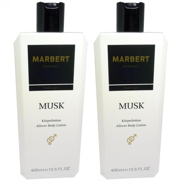 Marbert Body Care Musk - Körper Creme Haut Pflege Lotion - MULTIPACK 2x400ml