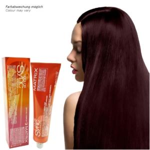 Matrix Socolor Color Sync - Demi Permanent Tönung Creme Haar Farbe - 84ml - # 4RV Medium Red Violett - Mittelbraun Rot Violett