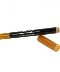 Max Factor Wild Shadow Pencil - Gel Lidschatten + Augen Konturenstift - 2,5g - # 40 Brazen Gold / freches Gold