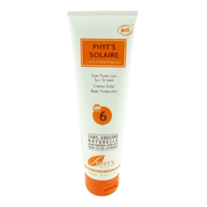 Phyt's Solaire Low Protection SPF 6 - Sonnen Creme Anti Aging Parabenfrei - 100g
