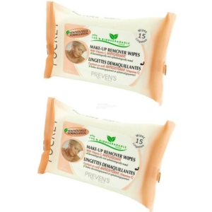 Preven's Paris - Make Up Entferner Feuchttücher - Bio - Pocket - Vitamin C - 2-Pack