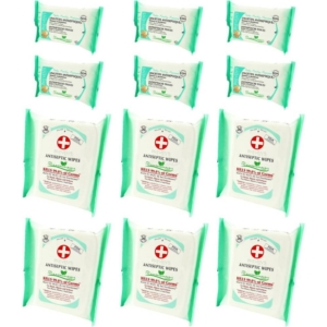 Preven's Paris Antiseptische Feuchttücher Hygiene Big Pack + Pocket Multipack - 6-Pack