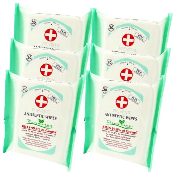 Preven's Paris Multipack 30 - Deo + Antiseptische Feuchttücher - ohne Alkohol