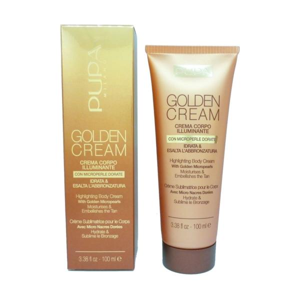 Pupa Golden Cream Highlightening Body Cream 001 Gold - Körper Glanz Creme 100ml