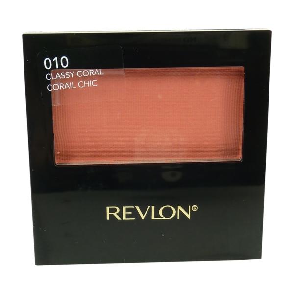 Revlon Powder Blush with Brush Rouge Teint Farbe Puder Make up versch Nuancen 5g - 010 classy coral